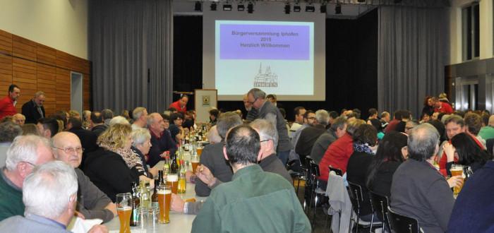 Bürgerversammlung in Iphofen