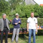 Josef Mend, Dieter Lenzer und Jürgen Adler bei den kurzen Ansprachen
