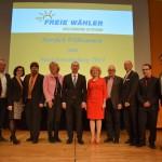 Die FW-Führungsriege mit Hubert Aiwanger.