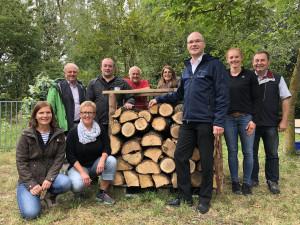 Die Mannschaft der FWI und FBG-Geschäftsstellenleiter Dieter Rammensee mit viel Spaß an den verschiedenen Angeboten