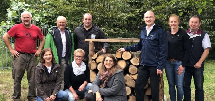 FBG-Geschäftsstellenleiter Dieter Rammensee und die Mannschaft der FWI mit viel Spaß an den verschiedenen Angeboten