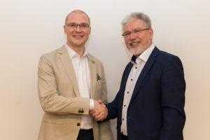 Glückwünsche zur Wahl des 1.Bürgermeisters vom bisherigen Amtsinhaber Josef Mend